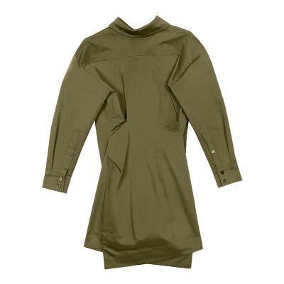 button shirt dress khaki
